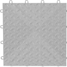 "Gladiator® 12"" x 12"" Tile Flooring (48-Pack) - Silver Tread"