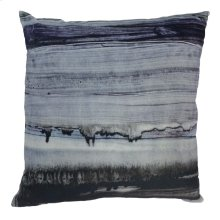 Parallel Lines Velvet Feather Cushion 25x25