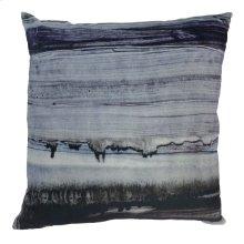 Parallel Lines Velvet Feather Cushion 25x25