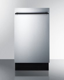 """18"""" Wide Energy Star Qualified Dishwasher With Stainless Steel or Panel-ready Door, Made In Europe"""