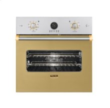"27"" Single Custom Electric Premiere Oven, Brass Accent"