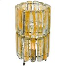 2 Tiered Blown Glass Yellow Table Lamp Product Image