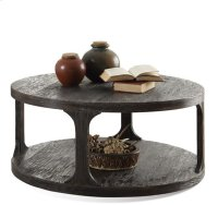 Bellagio Round Coffee Table Weathered Worn Black finish Product Image