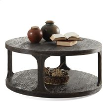 Bellagio Round Coffee Table Weathered Worn Black finish