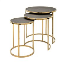 Marek Stainless Steel Tables - Set of 3