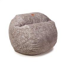 Full Chair - Faux Fur - Grey