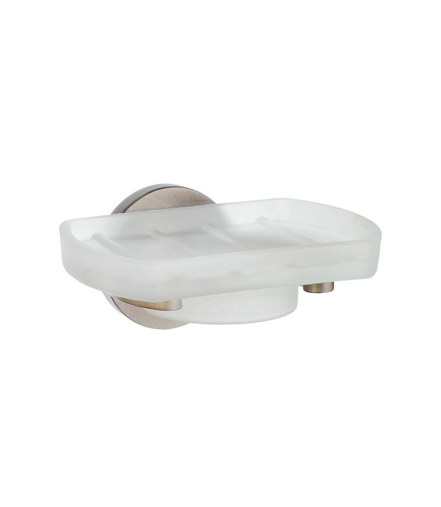 Holder with Glass Soap Dish L342N