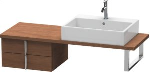 Vero Low Cabinet For Console Compact, American Walnut (real Wood Veneer)