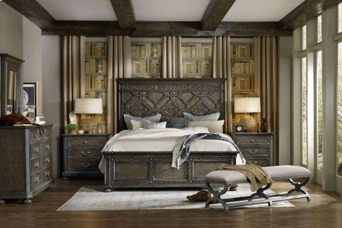 Vintage West California King Wood Panel Bed