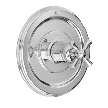 Randall 1/2 Inch or 3/4 Inch Thermostatic Valve Trim with Cross Handle - Polished Chrome