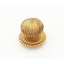 "Solid Brass, Symphony, Sonata, Round Knob, 1-1/4"" diameter, Paris Brass finish"