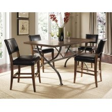 Cameron 5pc Counter Height Rectangle Wood Dining Set with Parson Stools