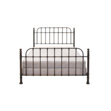Metal Bed In Dark Copper Finish