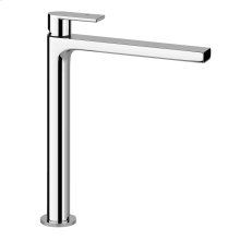 """Tall single lever washbasin mixer without pop-up assembly Spout projection 8-1/2"""" Height 11-11/16"""" Drain not included - See DRAINS section Max flow rate 1"""