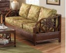 Havana Palm Upholstered Rattan & Wicker Sofa bed Product Image