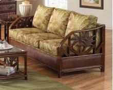 Havana Palm Upholstered Rattan & Wicker Sofa