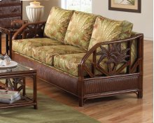 Havana Palm Upholstered Rattan & Wicker Sofa bed