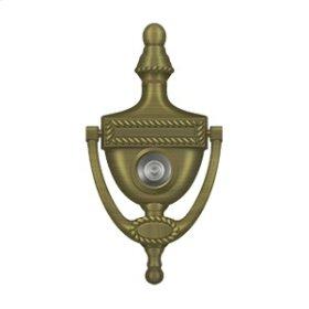 Door Knocker-Viewer, Victorian Rope - Antique Brass