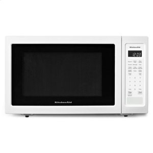 "KitchenaidKitchenAid® 21 3/4"" Countertop Microwave Oven - 1200 Watt - White"