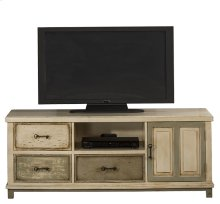 Larose Entertainment Unit - Rustic White and Gray