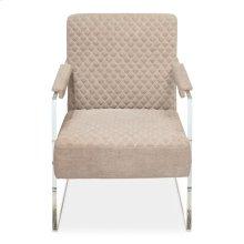 Just Look Acrylic Arm Chair, Grey