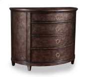 Classics Demilune Hall Chest - Silver Finish