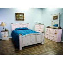 Mansion Econo Weathered White 15w Bedroom Group