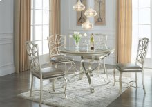 D390-01/15  Round Dining Room Table with Upholstered Chairs