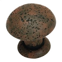 Olde World Knob 1 3/8 Inch - Rust