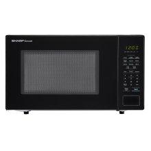 1.1 cu. ft. 1000W Sharp Countertop Black Microwave