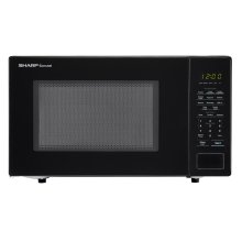 1.1 cu. ft. 1000W Sharp Countertop Black Microwave