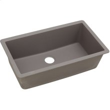 "Elkay Quartz Classic 33"" x 18-7/16"" x 9-7/16"", Single Bowl Undermount Sink, Greige"