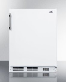 Built-in Undercounter ADA Compliant Break Room Refrigerator-freezer In White With Nist Calibrated Thermometer and Alarm