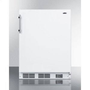 SummitBuilt-in Undercounter ADA Compliant Break Room Refrigerator-freezer In White With Nist Calibrated Thermometer and Alarm
