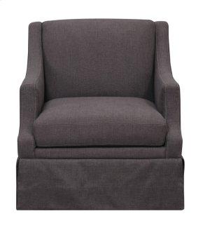 Emerald Home Mckinley Swivel Glider Slip Chair Charcoal U3212-04-03