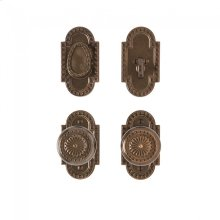 """Corbel Arched Entry Set - 2 1/2"""" x 4 1/2"""" Silicon Bronze Brushed"""