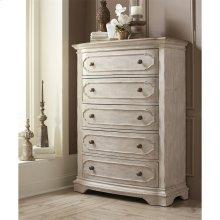 Elizabeth - Five Drawer Chest - Smokey White/antique Oak Finish