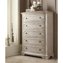 Elizabeth - Five Drawer Chest - Smokey White/antique Oak Finish