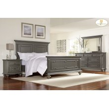 HOMELEGANCE 1866-1-9 Marceline Queen Bed, Dresser, Mirror, Night Stand & Chest Group