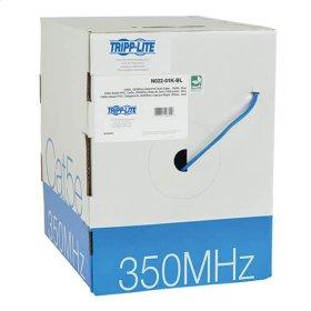 Cat5e 350 MHz Bulk Solid-Core PVC Cable, Blue, 1000 ft., TAA