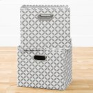 Fabric Storage Baskets, 2-Pack - Mouse Gray and White Product Image
