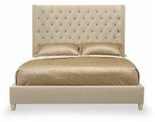 California King-Sized Salon Upholstered Panel Bed in Salon Alabaster (341)
