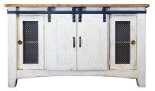 Barn Door TV Stand 2 Drawer