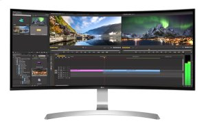 """34"""" Class (34"""" Diagonal) 21:9 UltraWide® WQHD IPS Curved LED Monitor with USB Type-C )"""