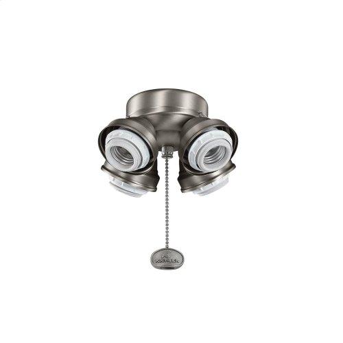 Medium Base Fitter CFL 4 Light Antique Pewter