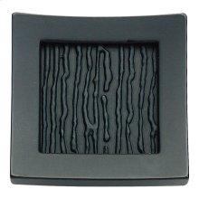 Primitive Square Knob 1 1/2 Inch - Matte Black