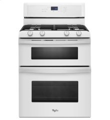 (Discontinued Floor Model 1 Only) 6.0 Total cu. ft. Double Oven Gas Range with AccuBake® system