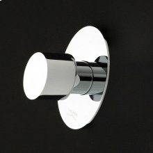 Built-in single lever two-way diverter with a knob handle and oval backplate. Water flow rate 6.2 gpm at 60 psi.