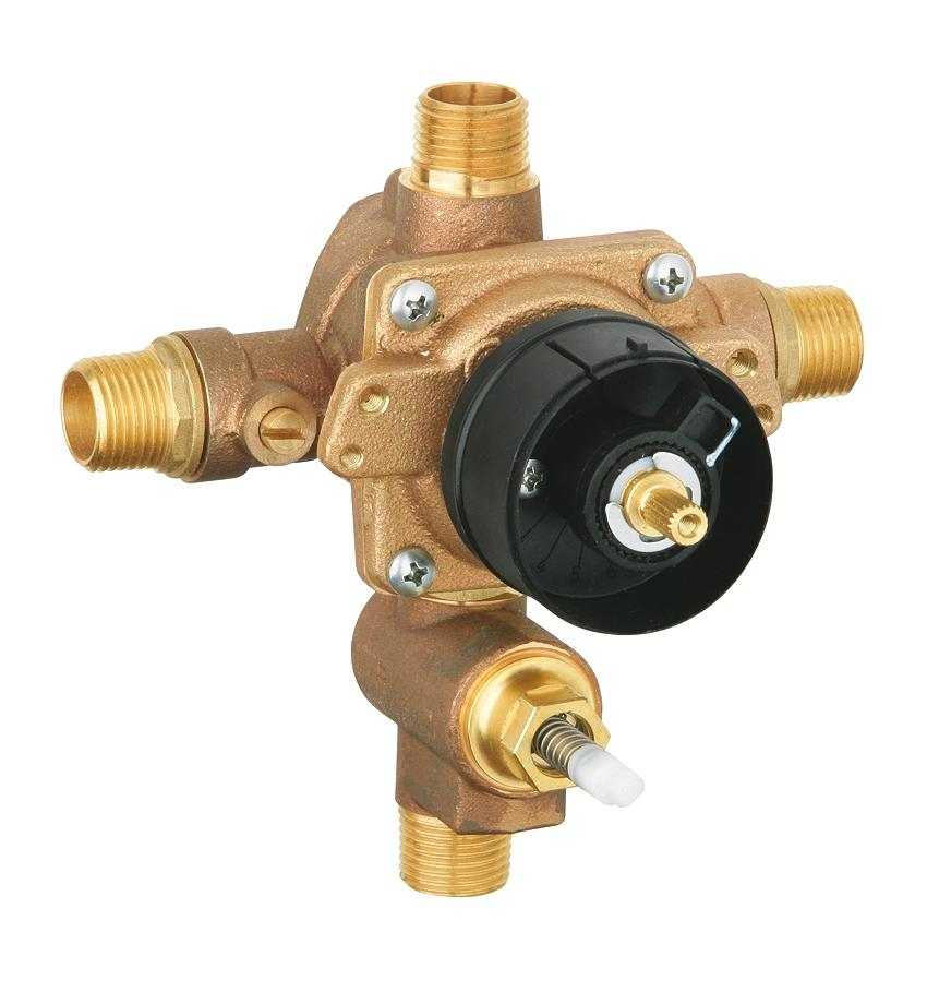 Grohsafe Pressure Balance Rough-In Valve with Built-In Mechanical Diverter