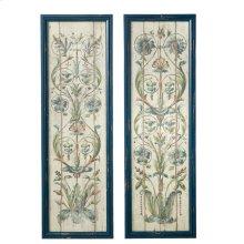Framed Floral Scroll Wall Decor